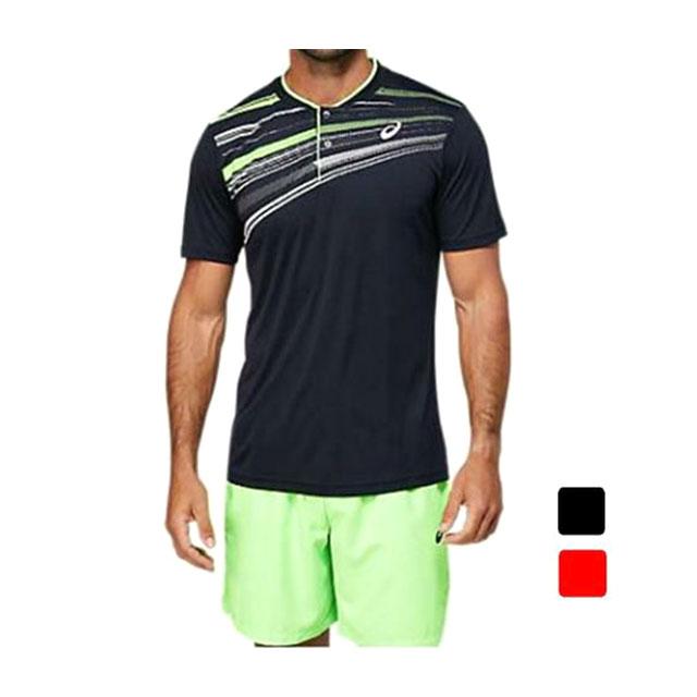 アシックス ASICS テニス メンズ テニスウェア グラフィック ポロシャツ 2041A171
