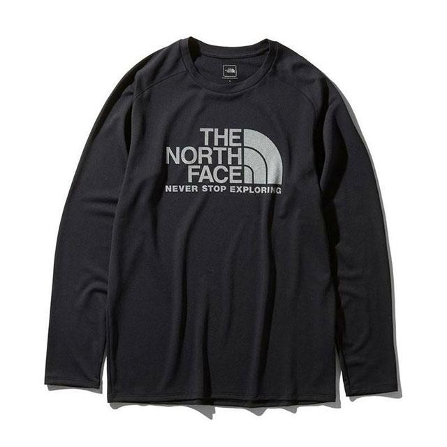 ザ・ノースフェイス THE NORTH FACE メンズ スポーツウェア Tシャツ 長袖 ロングスリーブGTDロゴクルー NT12093 K