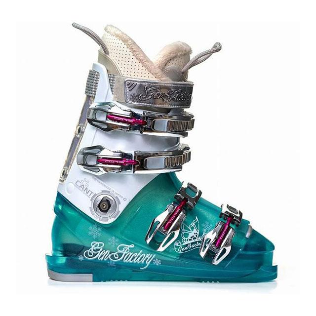 ゲン GEN スキーブーツ レディース幅広快適ブーツ 【19/20/21】 SURE BLU/WHT 【当店オリジナルブーツケースサービス中!】