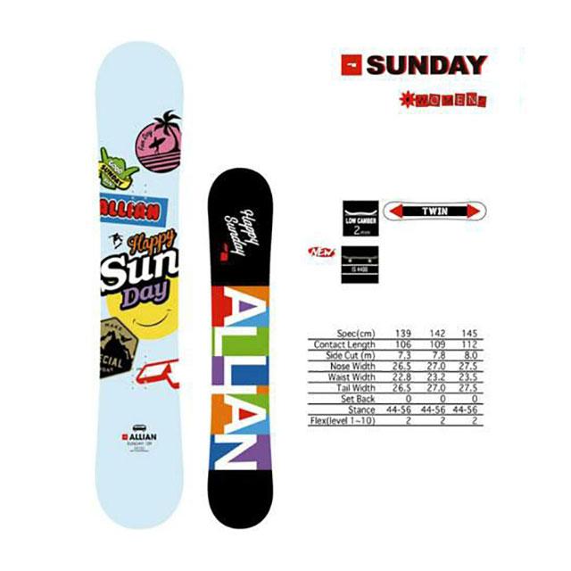 【国内正規品】 アライアン ALLIAN スノーボード レディース SUNDAY 【2018-19】