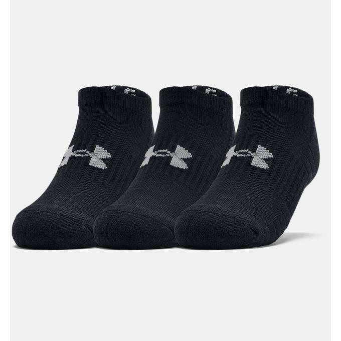 アンダーアーマー UNDER ARMOR メンズ トレーニング ソックス 靴下 UA トレーニング コットン ノーショー 1359221 001